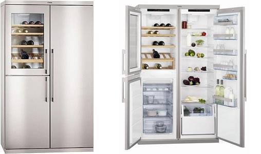 AEG三门电子控温红酒柜冰箱