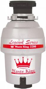 安纳海姆Waste King Legend 3200食物垃圾粉碎机