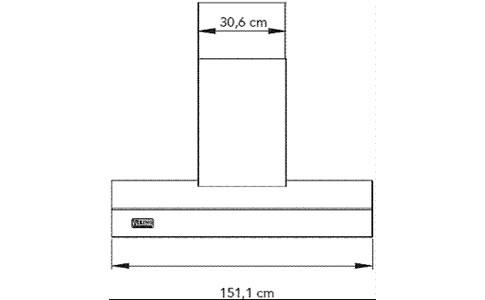Viking油烟机EVWH1548BSS外观 安装尺寸