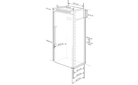 VIKING冰箱EVCRB530LSS外观 安装尺寸