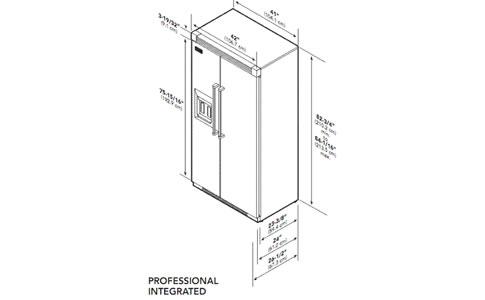 VIKING冰箱EVISB542DSS外观 安装尺寸