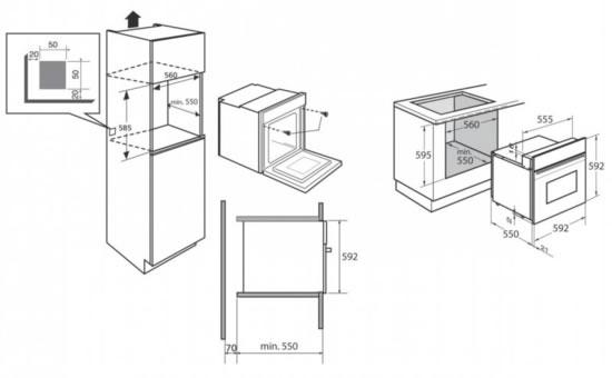 Brandt烤箱FP1567XCN尺寸