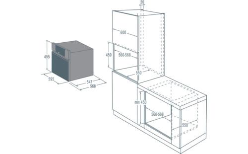 OCM8456S烤箱安装 尺寸 要求