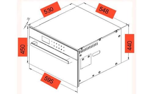 VALENTI蒸烤一体机SI36外观安装尺寸