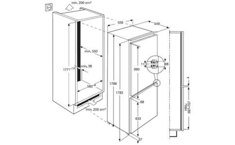 SCS51800F0冰箱外观 安装尺寸