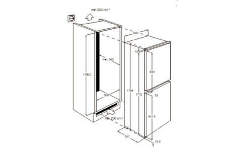 SCS51810S0冰箱外观 安装尺寸