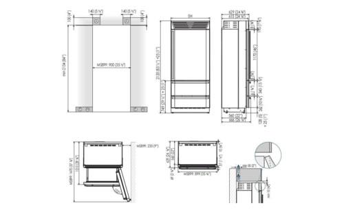 MS8990HWT3冰箱产品尺寸图