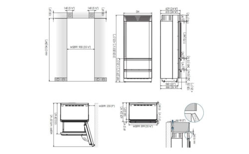 MS8990HST6I冰箱产品尺寸图