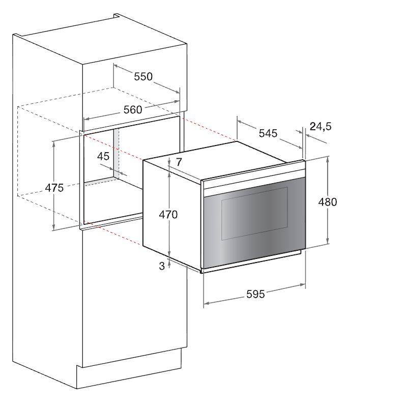 Scholtes烤箱FLR934GXA外观 开孔尺寸