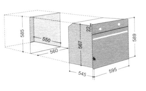 Scholtes烤箱FM46.1BA(T)外观 开孔尺寸